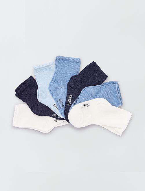 Set di 7 paia di calzini eco-sostenibili                                         BLU