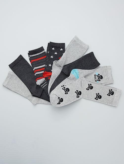 Set di 8 paia di calzini                             GRIGIO
