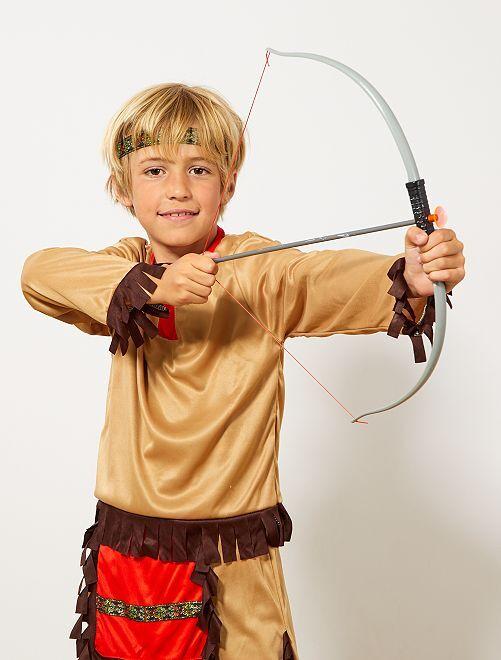 Set indiano arco con frecce e coltello                             grigio/marrone