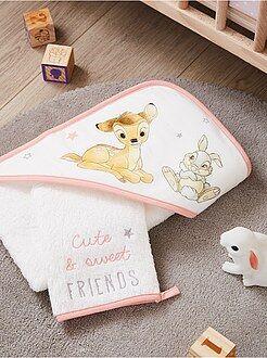 Cameretta, bagno - Set mantella da bagno e guanto 'Bambi' 'Disney' - Kiabi
