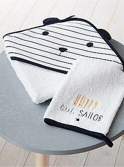 Cameretta, bagno - Set mantella da bagno e guanto coordinato 'Panda' - Kiabi