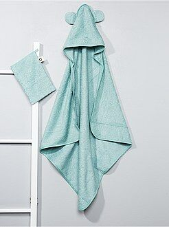 Cameretta, bagno - Set mantella da bagno e guanto coordinato - Kiabi