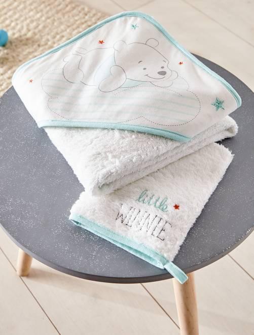 Set mantella da bagno + guanto coordinato                             BIANCO Neonata
