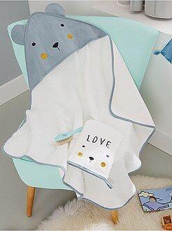 bambino 0 36 mesi set mantella da bagno guanto da bagno orso