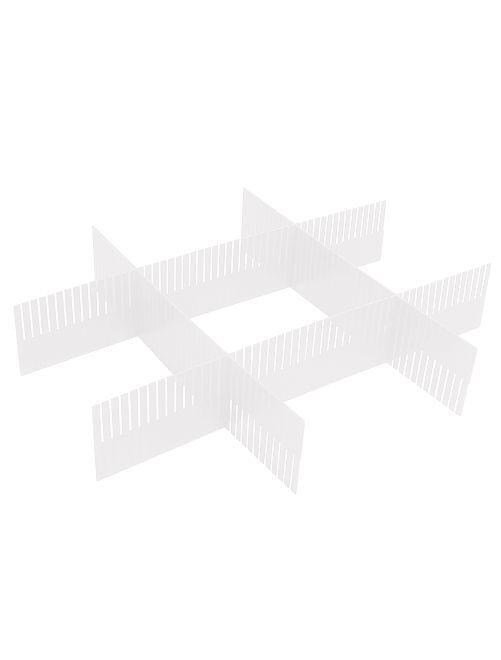 Set organizer per cassetti plastica                             transparente