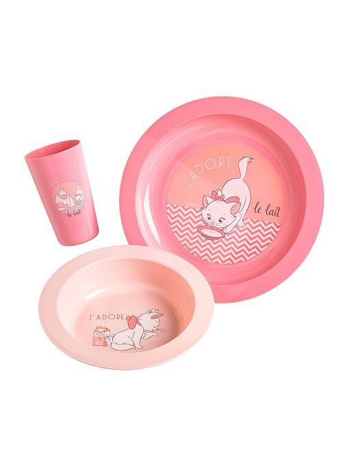 Set pasto 3 pezzi 'Disney'                                                                 rosa