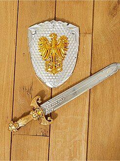 Travestimenti bambini - Set spada e scudo cavaliere - Kiabi