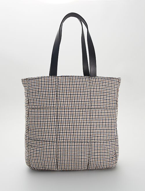 Shopping bag double face                             BEIGE