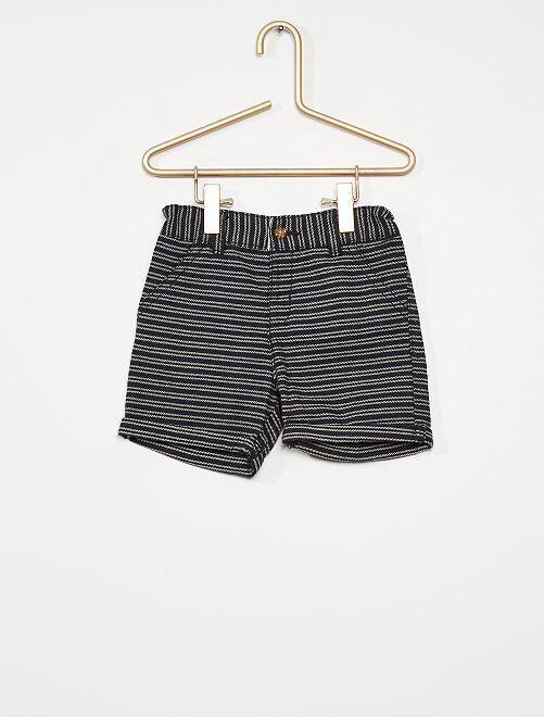 Shorts a righe                             BLU