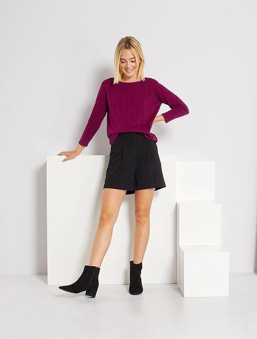 Shorts a vita alta                                         nero