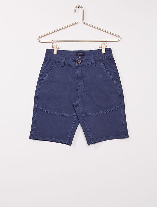 Shorts chino                                         blu