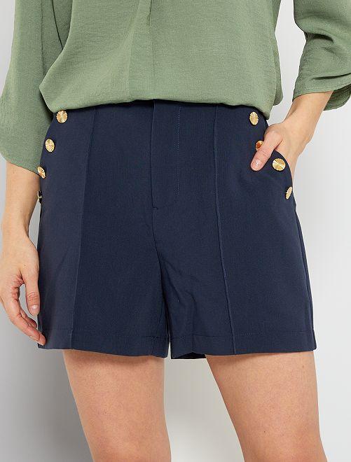 Shorts con bottoni marinari                             blu