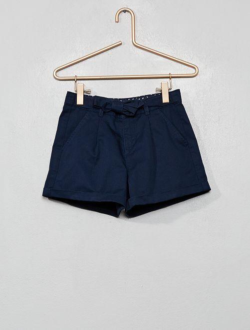Shorts con cintura da annodare                                         blu