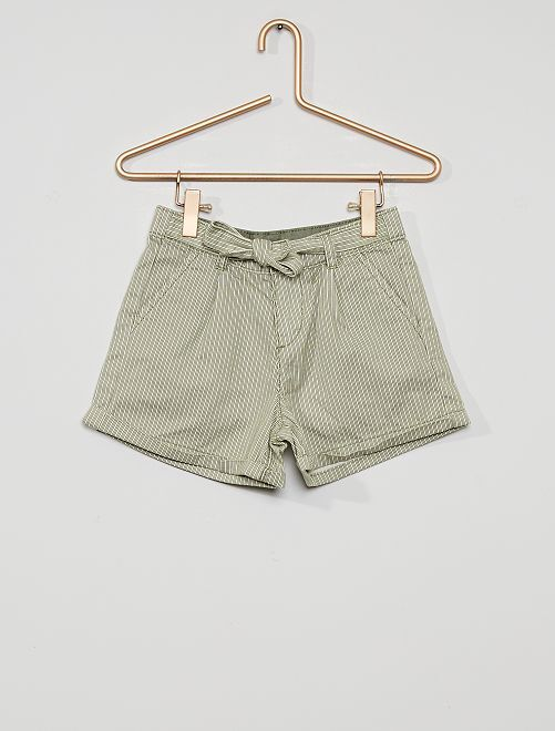 Shorts con cintura da annodare                                                                                                                 VERDE