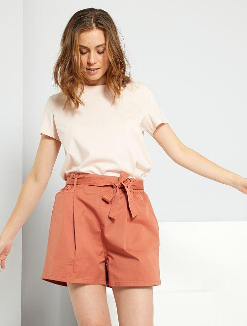 Shorts con cintura                                         ROSSO
