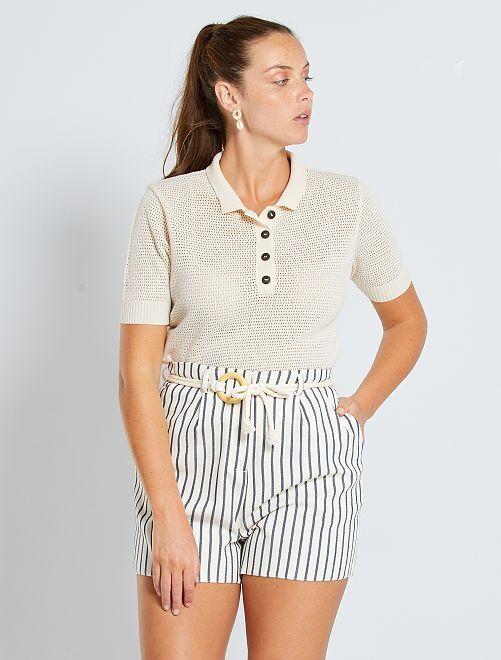 Shorts con corda                             BLU