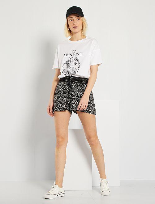 Shorts con motivo                                         nero