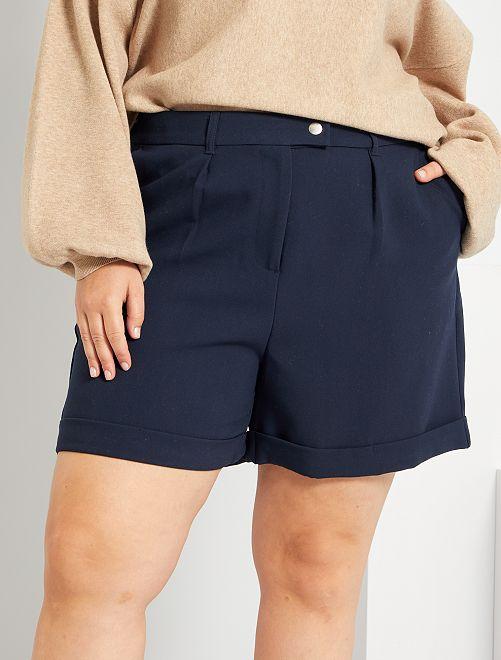 Shorts con risvolto                                         BLU