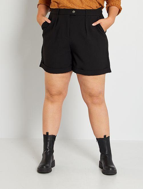 Shorts con risvolto                                         nero