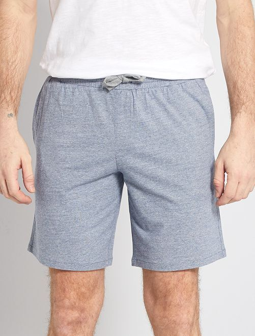 Shorts da notte a microrighe                     a righe blu