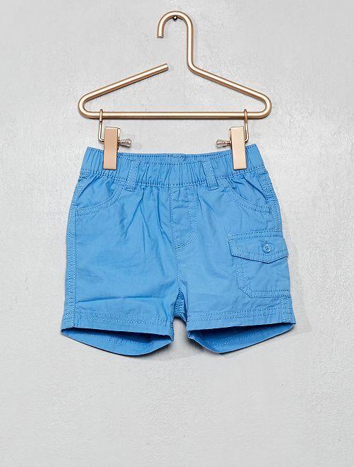 Shorts in cotone                                         BLU
