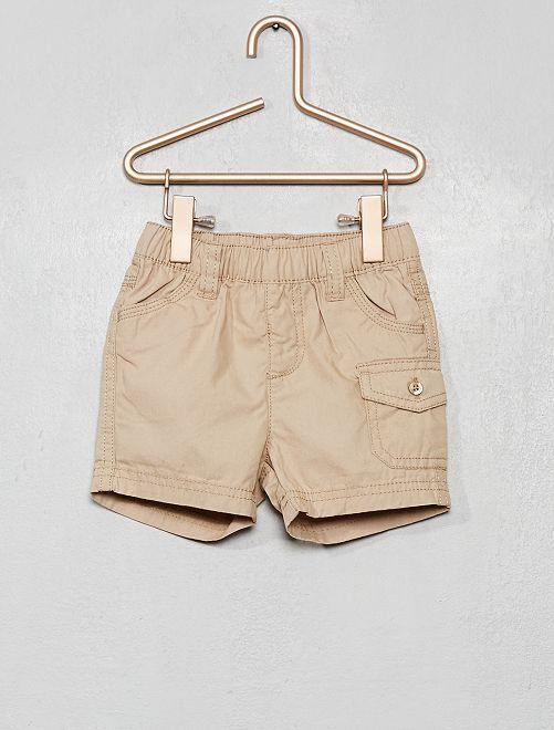 Shorts in cotone                                         ecru