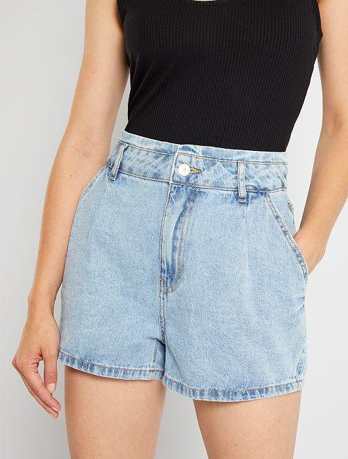 Shorts in denim                                                     BLU
