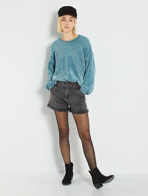 Shorts in denim                             GRIGIO