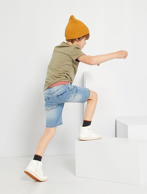 Shorts in denim slim                                                     BLU