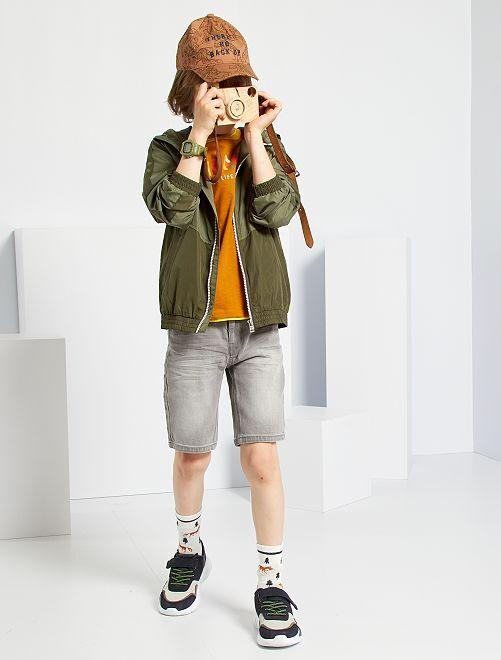 Shorts in denim slim                                                     GRIGIO