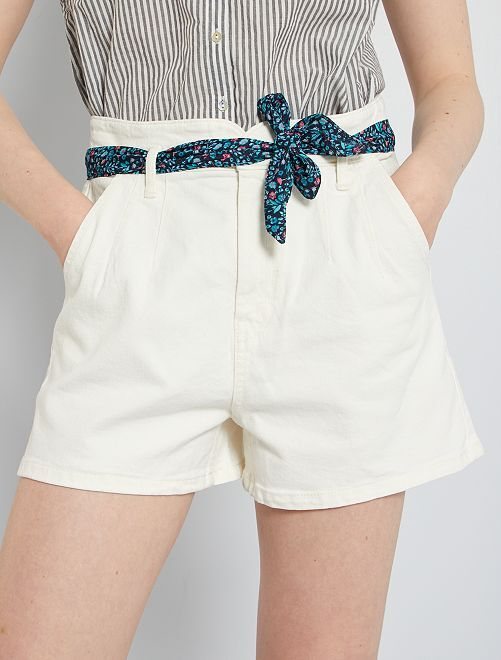 Shorts in jeans                                                     BIANCO