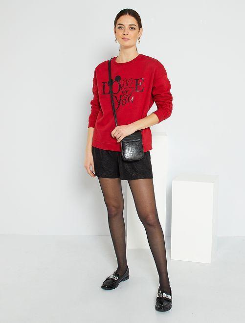 Shorts in lurex                                         nero