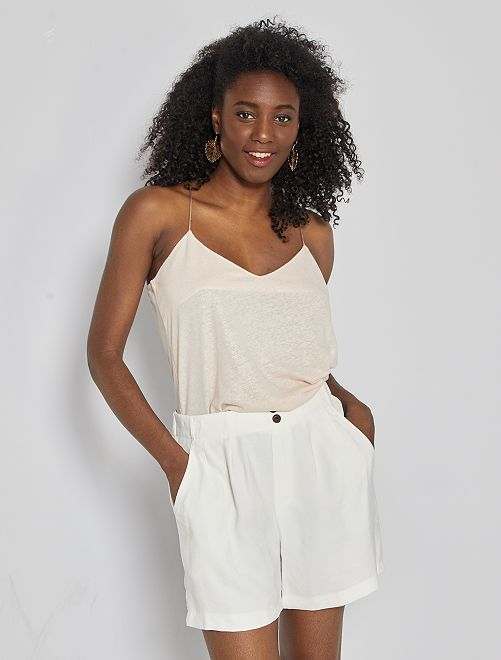 Shorts in lyocell                                                                 bianco neve