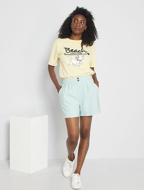 Shorts in lyocell                                                                 blu