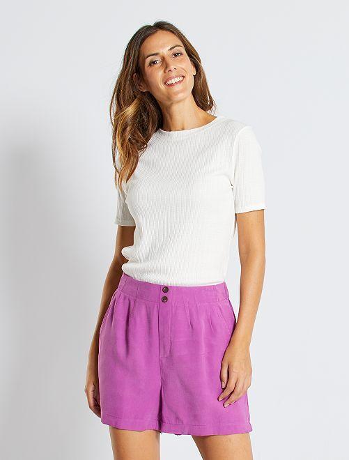 Shorts in lyocell                                                                 VIOLA