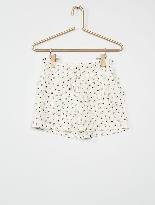 Shorts in maglia stropicciata                                                     bianco neve