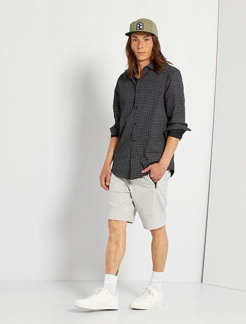 Shorts in piqué eco-sostenibili                             GRIGIO