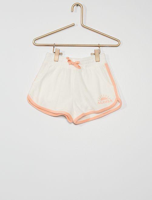Shorts in spugna                                                                             BEIGE