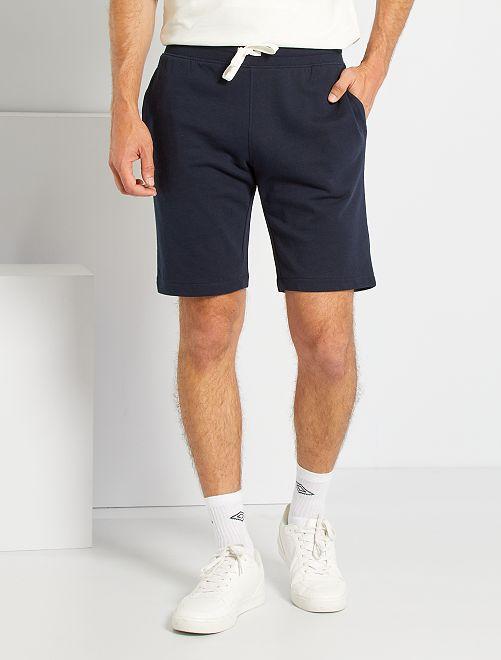 Shorts in tessuto felpato                                                     BLU
