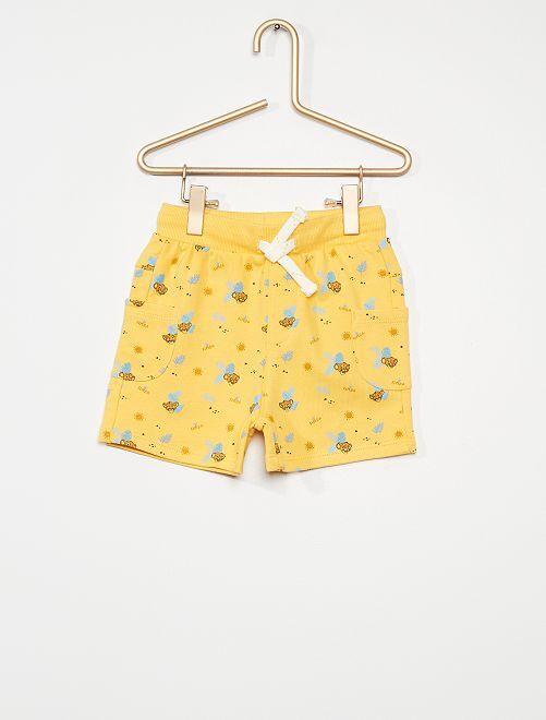Shorts in tessuto felpato 'Disney'                                         GIALLO