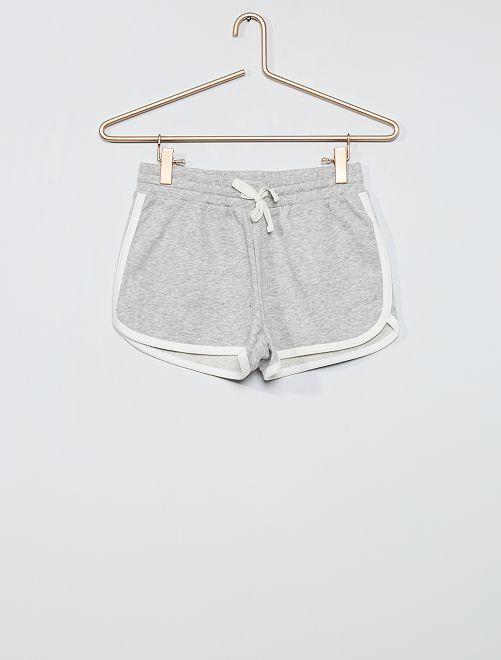 Shorts in tessuto felpato                             GRIGIO