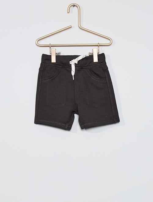 Shorts in tessuto felpato                     grigio scuro