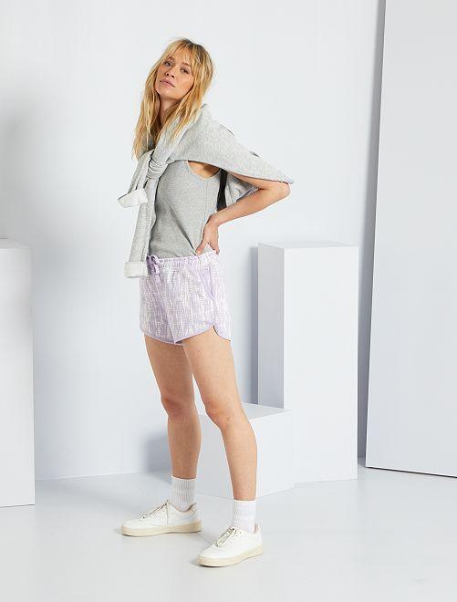 Shorts in tessuto felpato tye and dye                                                                 VIOLA