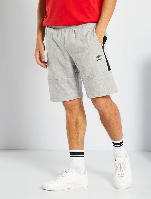 Shorts in tessuto felpato 'Umbro'                             GRIGIO