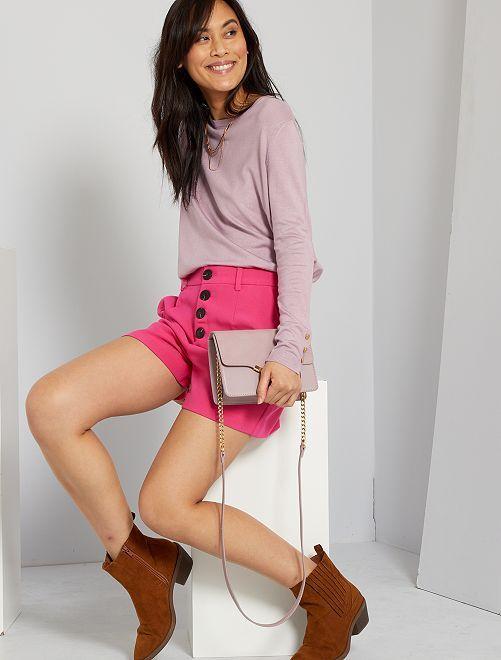 Shorts in tessuto stretch                                                                 rosa acceso