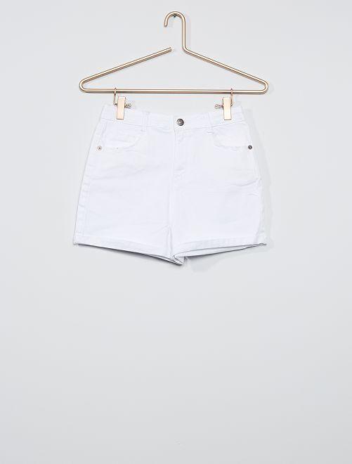 Shorts in twill colorato                     bianco