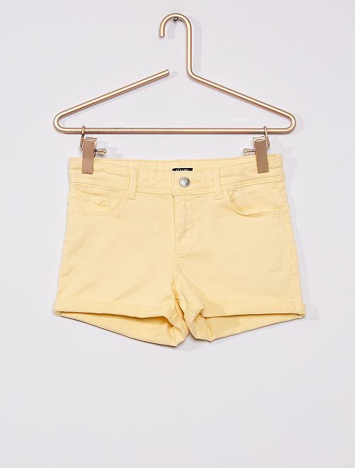 Shorts in twill                                                                                         giallo dorato