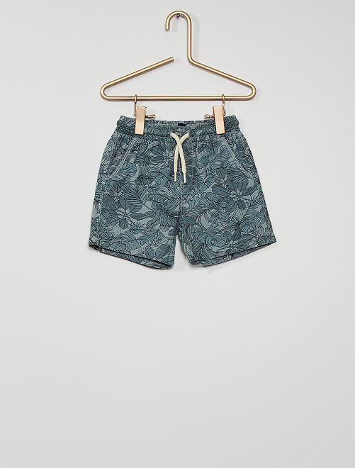 Shorts in twill stampati                                         BLU