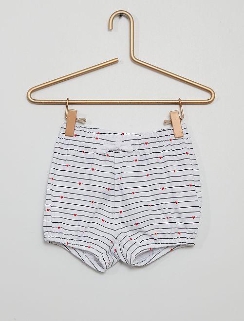 Shorts in voile di cotone                                                                 BLU