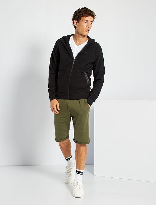 Shorts lunghi in tessuto felpato leggero                                                                             KAKI